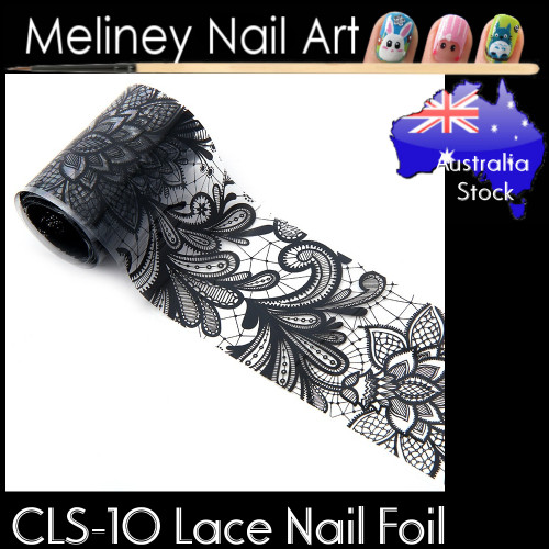 Black Lace Nail Transfer Foil - CLS10