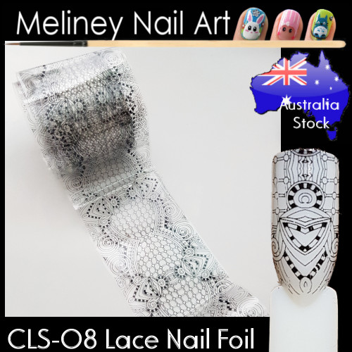 Black Lace Nail Transfer Foil - CLS08