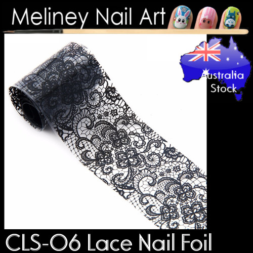 Black Lace Nail Transfer Foil - CLS06