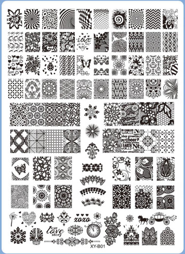 XY-B01 Image Plate for Stamping Nail Art Designs