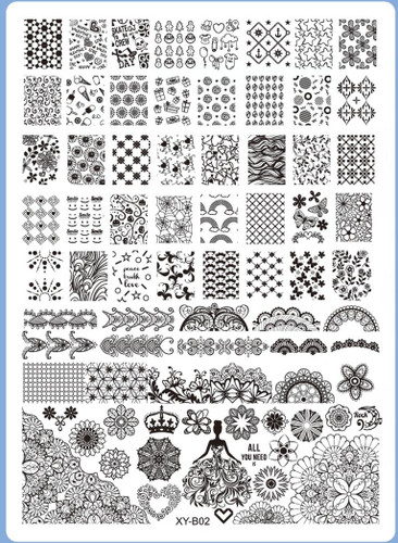 XY-B02 Image Plate for Stamping Nail Art Designs