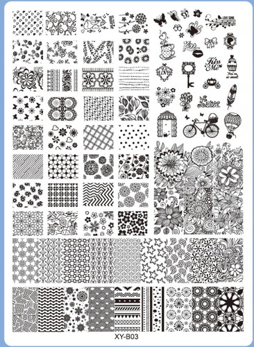 XY-B03 Image Plate for Stamping Nail Art Designs