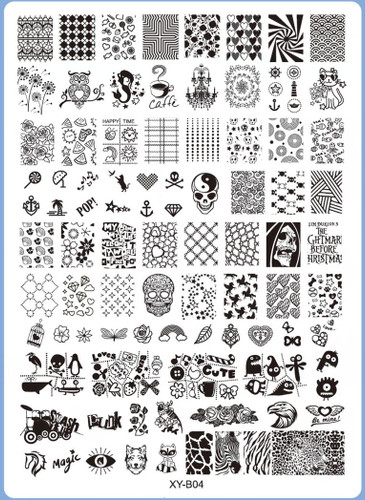 XY-B04 Image Plate for Stamping Nail Art Designs