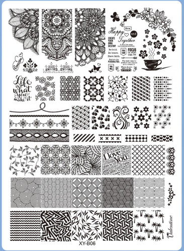 XY-B06 Image Plate for Stamping Nail Art Designs