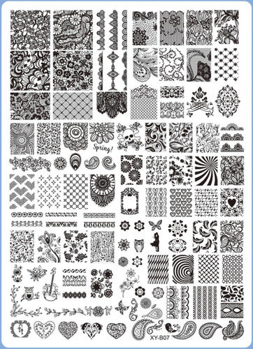 XY-B07 Image Plate for Stamping Nail Art Designs