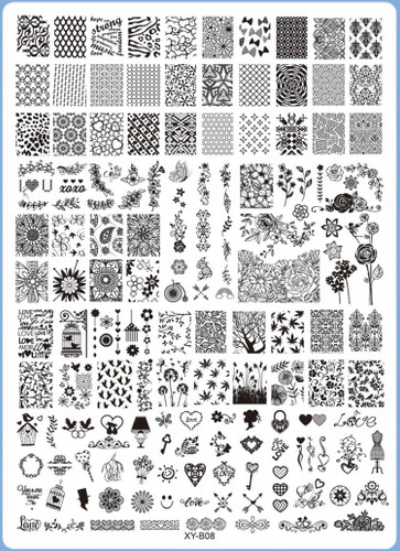 XY-B08 Image Plate for Stamping Nail Art Designs