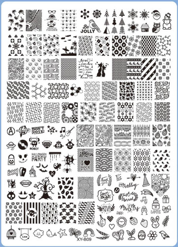 XY-B09 Image Plate for Stamping Nail Art Designs
