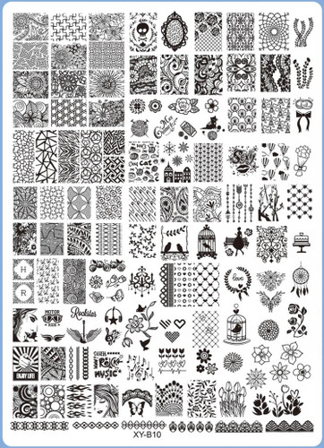 XY-B10 Image Plate for Stamping Nail Art Designs