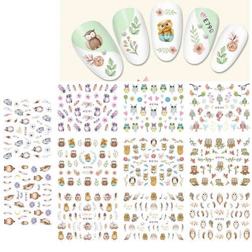 Nail Art Stickers - Owls