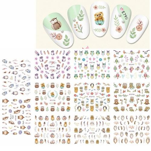 Nail Art Stickers - Owls