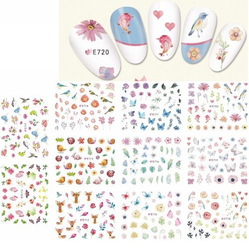 Nail Art Stickers - Forest Animals