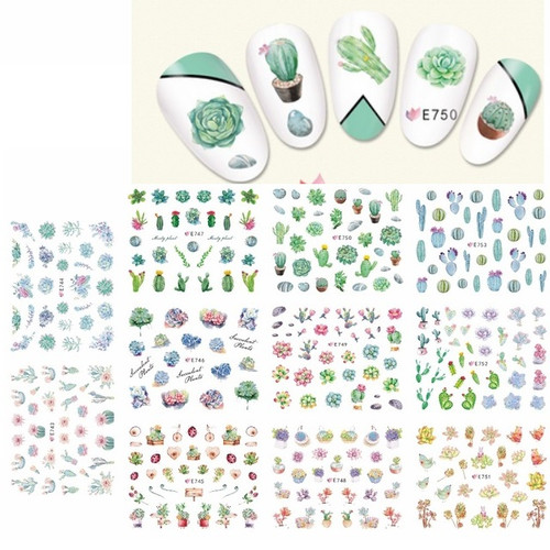 Nail Art Stickers - Cactus Plant