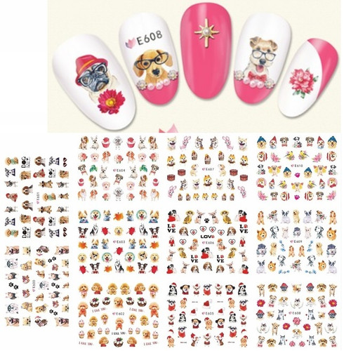 Nail Art Stickers -  Dogs Puppies k9