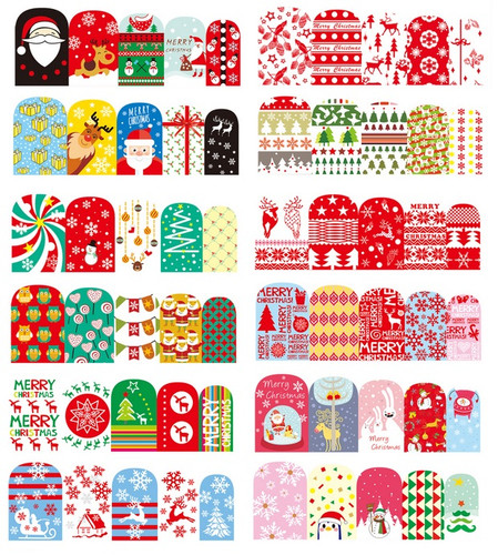 Water Decal Nail Art Stickers - Christmas Nail Wraps