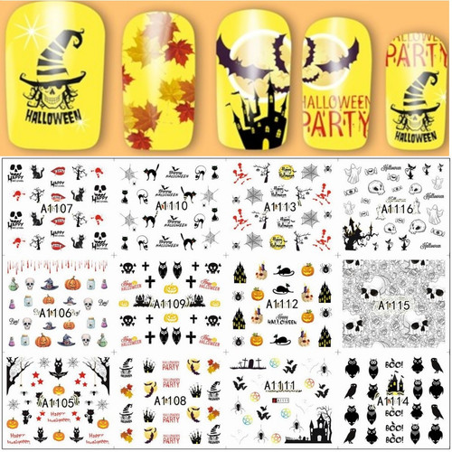 Water Decal nail art stickers - Halloween