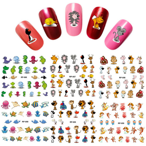Water Decal Nail Art Stickers - Animal Standing