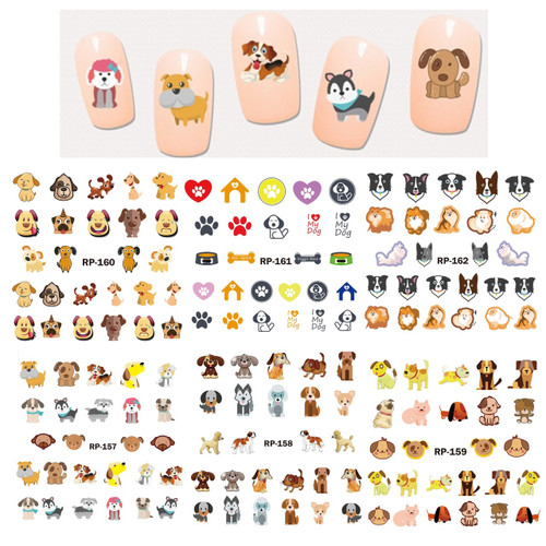 Water Decal Nail Art Stickers -Dogs