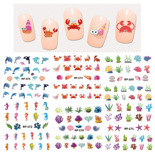 Water Decal Nail Art Stickers - Sea Life