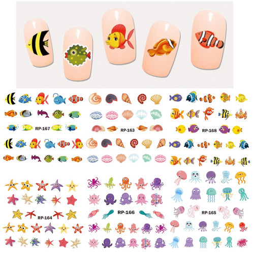 Water Decal Nail Art Stickers - Sea Life 2