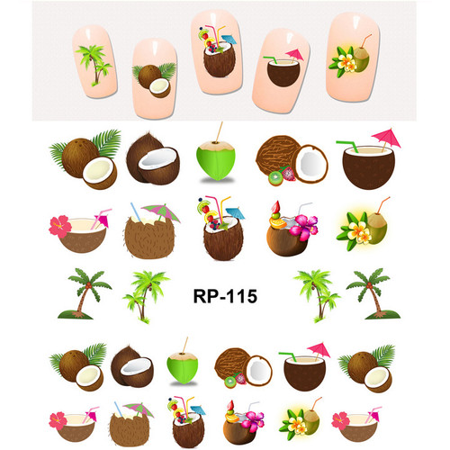coconut water decal nail art sticker