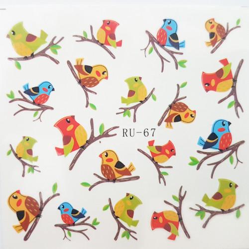 craft birds water decal nail art sticker