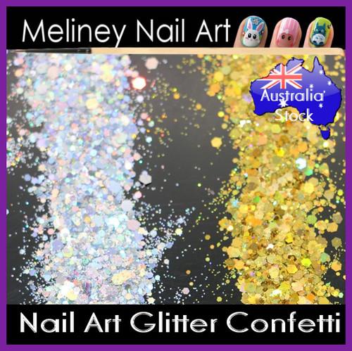 Silver Gold Nail Glitter