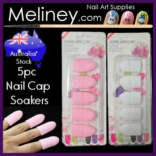 silicone nail cap soaker nail polish remover