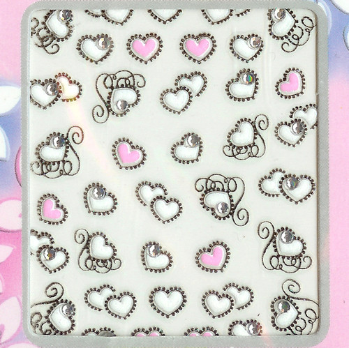 lace heart nail stickers