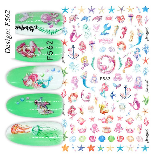 Mermaid Nail Art Stickers