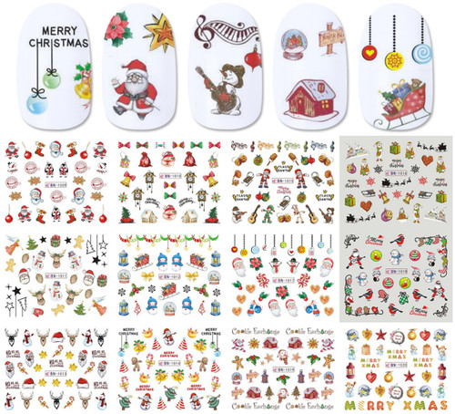 Water Decal nail art stickers -Christmas