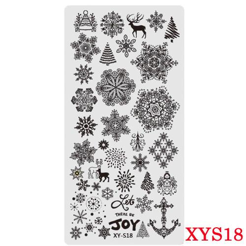 XY-S18 Christmas image plate