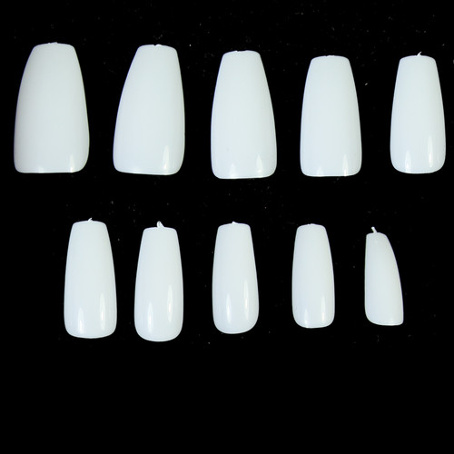 500pc Mid Tapered Coffin Full Nails