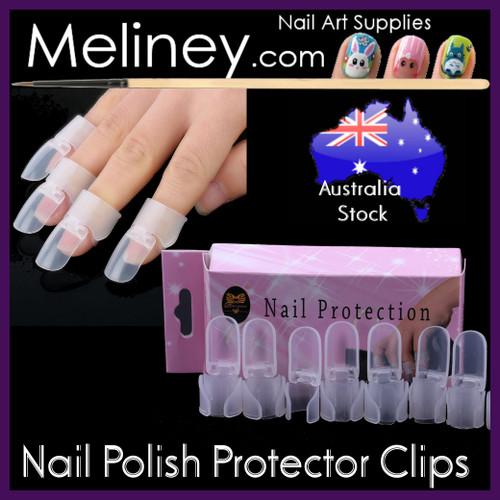 10pc Nail polish protector clips