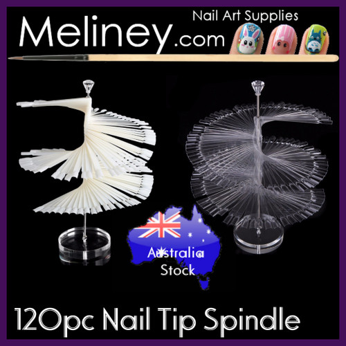 120pc Nail Tip Spindle Spiral