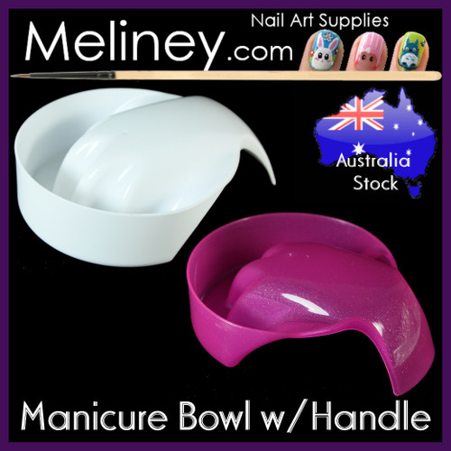 manicure spa bowl with handle