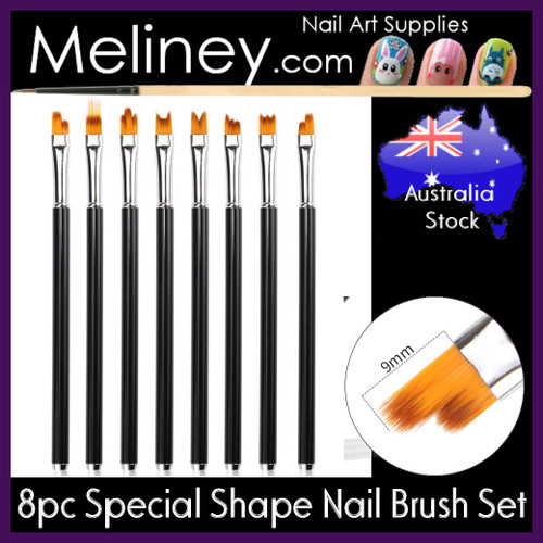 8pc special shape nail art brush set