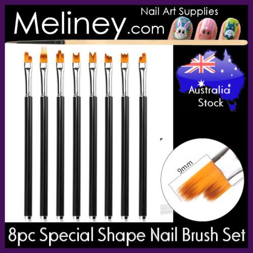 8pc special shape nail art brush set