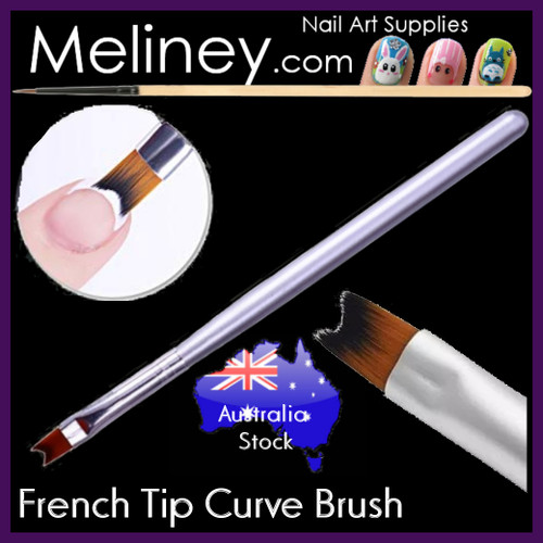French tip curve Nail brush
