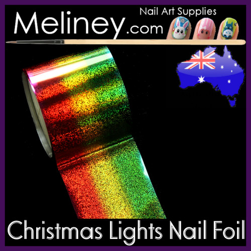 Christmas Lights Nail Art Transfer Foil