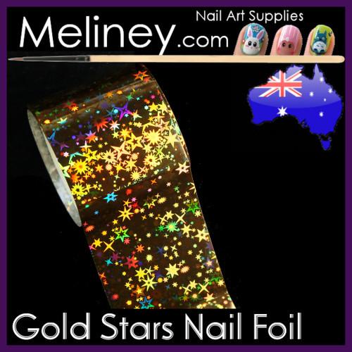 Gold Stars Nail Art Transfer Foil
