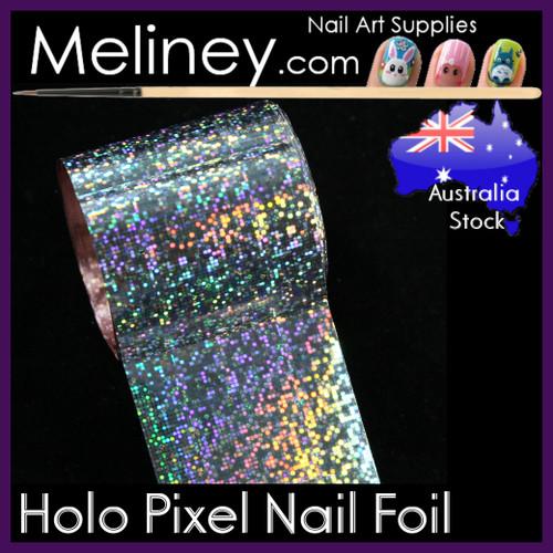 Holo Pixel Nail Art Transfer Foil