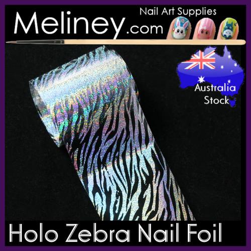 Holo Zebra Nail Art Transfer Foil