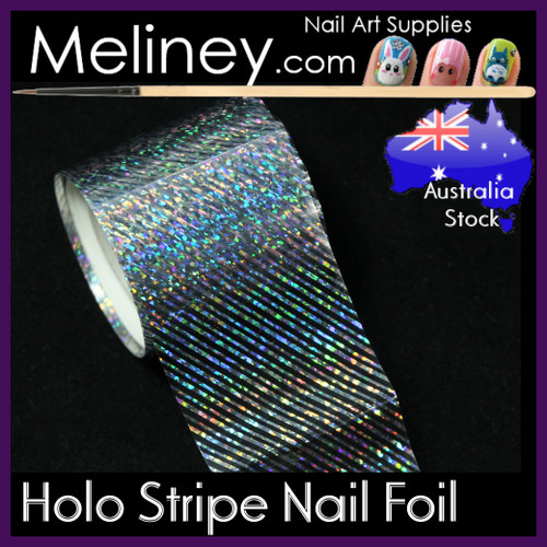 Holo Stripe Nail Art Transfer Foil