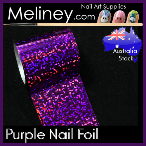 Purple Nail Art Transfer Foil