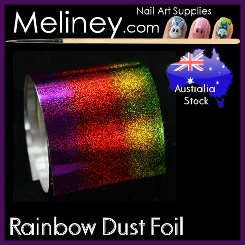 Rainbow  Dust Nail Art Transfer Foil