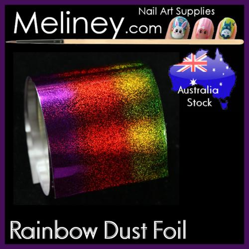 Rainbow  Dust Nail Art Transfer Foil