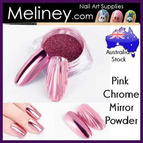 Pink Chrome mirror powder