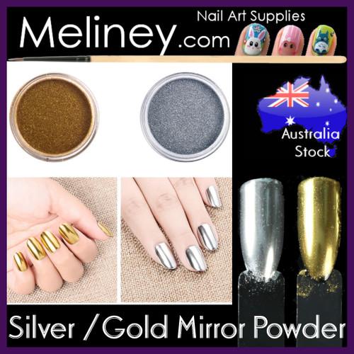 silver gold chrome mirror powder