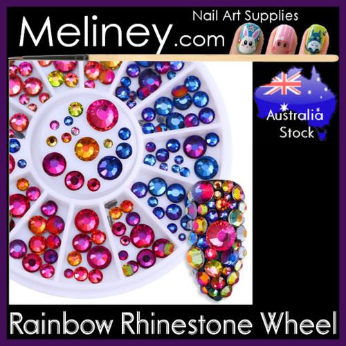Rainbow Rhinestone Wheel