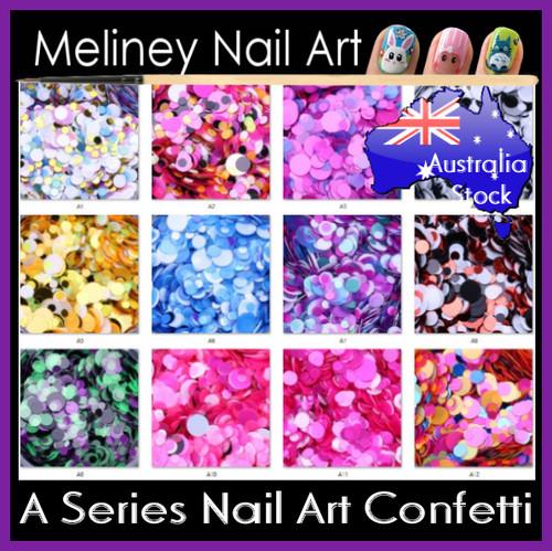 nail art confetti glitter